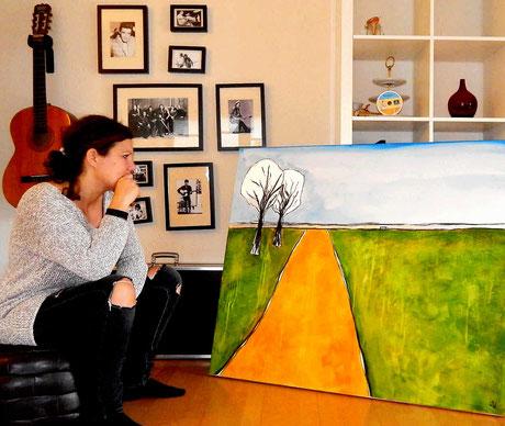 Hochzeitcollage malen lassen Gemälde