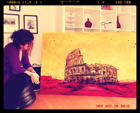 Colosseum gemalt Gemälde