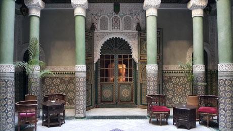 """Typisches marokkanisches """"Riad"""" in der Altstadt"""