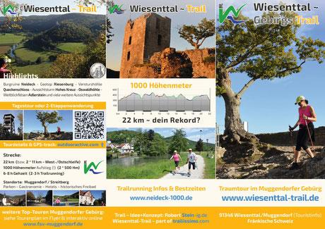 """Aktueller Flyer """"Wiesenttal-Trail"""""""