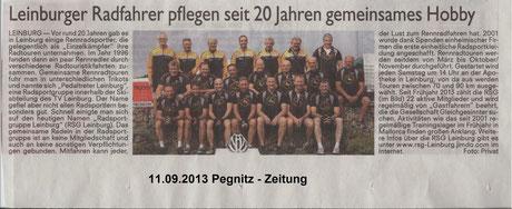 """Presseartikel """"Pegnitz-Zeitung"""" 11.Sept. 2013"""