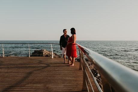 sesión de embarazo en la costa, sesión de embarazo en la playa, sesión de embarazo en el sur de Tenerife