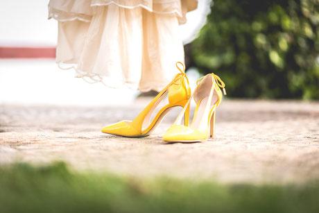 Zapatos de novia. Boda en Tenerife