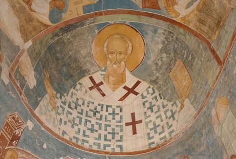 Ферапонтов монастырь. Фрески Дионисия. Святитель Николай Чудотворец