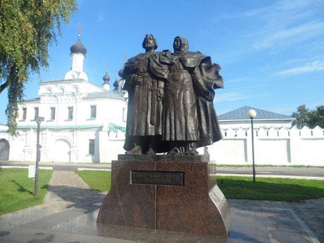 г. Муром, памятник святым благоверным князю Петру и княгине Февронии Муромским.