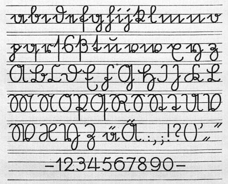 Schriftmuster - Sütterlin Schrift