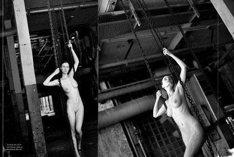 Aktfotografie in einer verlassenen Fabrik bei Hannover