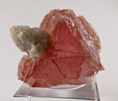 pink fluorite from Alps