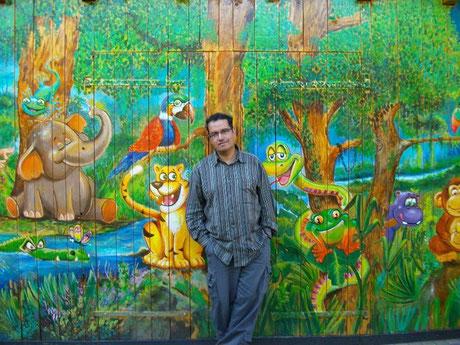 Claudio Osorio im Mütterzentrum Känguruh, Bamberg