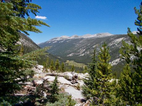 Lyell Canyon Abstieg Donahue Pass.