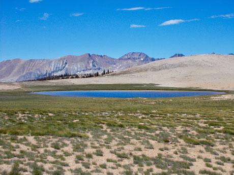 Bighorn Plateau auf dem Weg nach Tyndall Creek.
