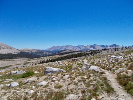 Blick zurück auf dem Weg zu Forester Pass.