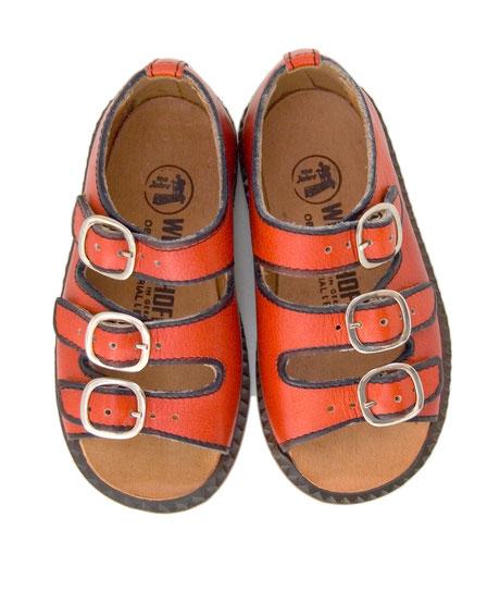 70er Vintage Sandalen Leder