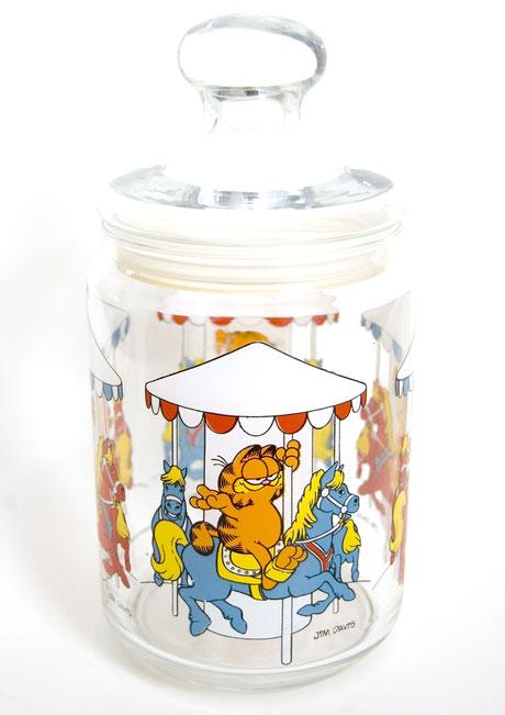 70er Garfield Glas Bonbonniere