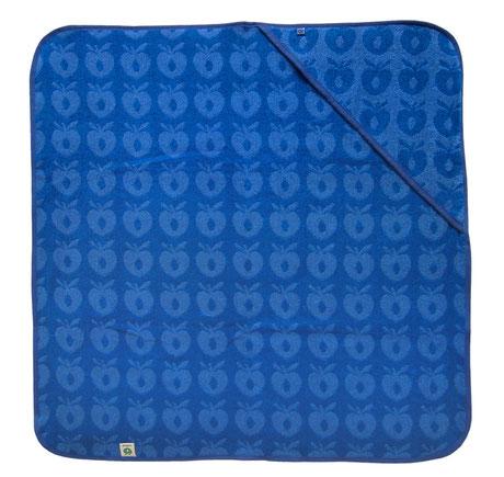 Smafolk Baby Handtuch mit Kapuze Aepfel Blau