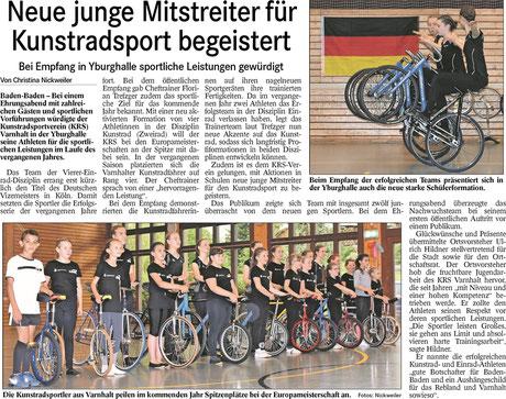 Badisches Tagblatt vom 12.06.2019