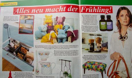 Flosinn Tierkissen Freizeit Illustrierte Presse Kuscheltiere