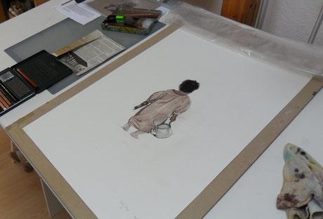 sam wolf Autorin Simone Müller Zeichnung Skizze Kind