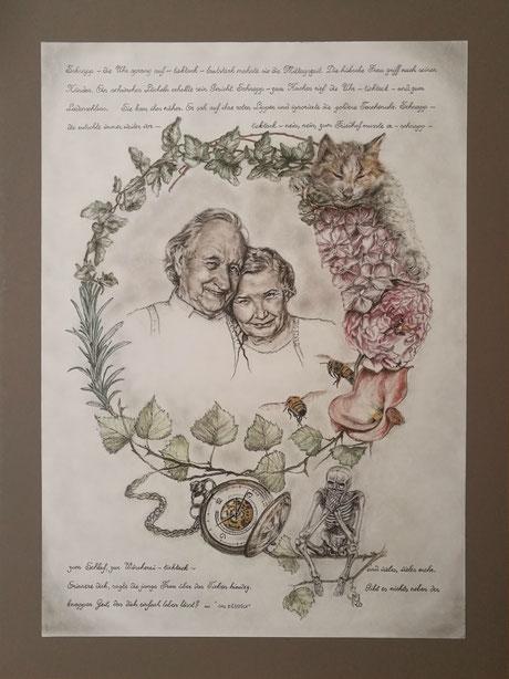 sam wolf Autorin Simone Müller Zeichnung Erzählung Ehepaar Portrait