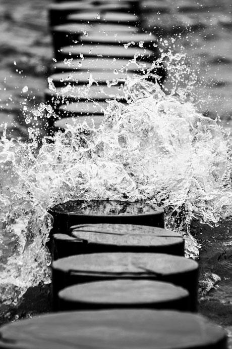 Schwarz-Weiss-Fotografie Wasser