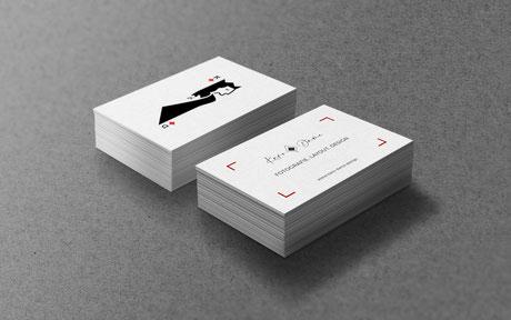 Grafikdesign – Karo Dame Visitenkarte