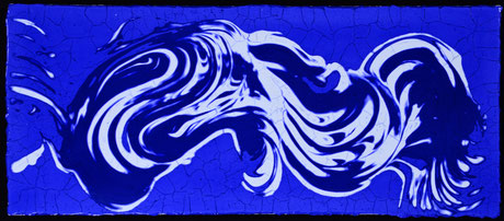 Blaues  V  (68X29cm)  2015