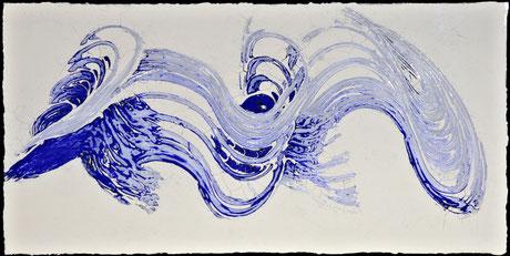 Drift in Blau III  (100X50cm)  2014