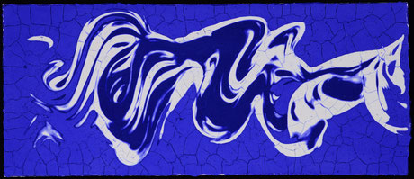 Blaues  VI  (68X29cm)  2015
