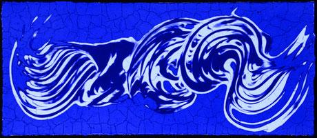 Blaues  IV  (68X29cm)  2015