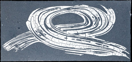 Drift in Hellgrau  (75X35cm)   2011