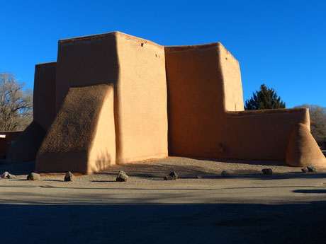 San Francisco de Asis Mission Church; also known as Rancho de Taos Church. Built between 1772 and 1816, it was the subject of four paintings by Georgia O'Keefe. Contemporary artists still depict it in their work.