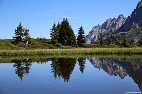 Grosse Scheidegg - Blick auf Engelshörner - Wanderung zur First - 21.08.15