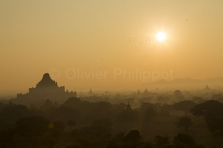 Lumiere de brume - Bagan - Birmanie © Olivier Philippot Photo