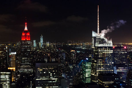 Red Empire State Building  - New York - USA © Olivier Philippot Photo
