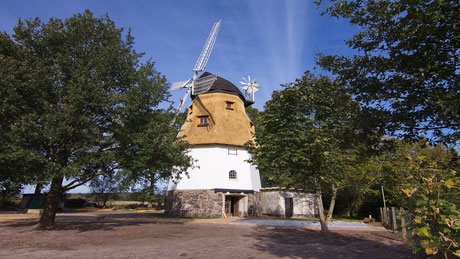 Historische Windmühle in Schneverdingen Heber