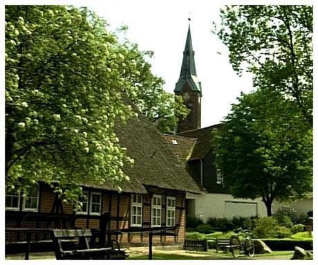 Heideort Neuenkirchen an der Kirche