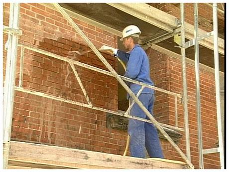Schaper Fassadensanierung Fugenreinigung