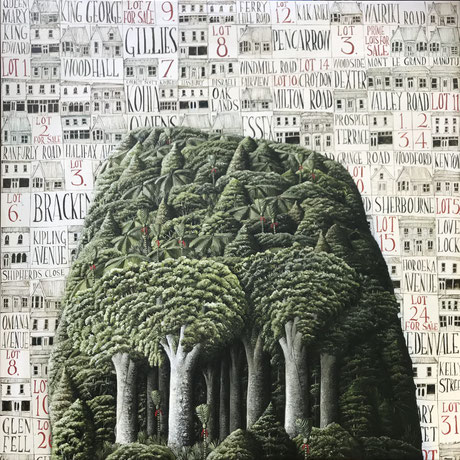 'Eden View' 80 x 80 cm Oil on canvas 2021