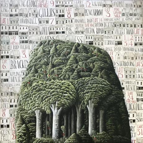 'Eden View' 80 x 80 cm Oil on canvas 2021 SOLD