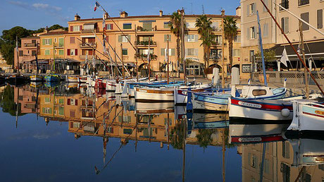 Boats in the Town Sanary-sur-Mer France cruise Jewish tour