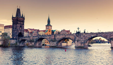 Prague with River Vltava