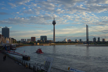 Düsseldorf with River Rhine