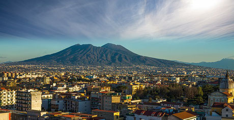 Naples with Mount Vesuvius