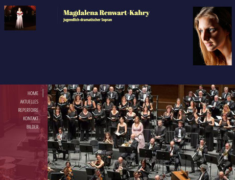 MAGDALENA RENWART-KAHRY, Sopran - Official WEBSITE
