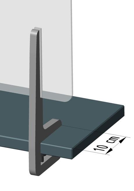 Klemmfuß für Tischplatten 1,5 - 4,5 cm