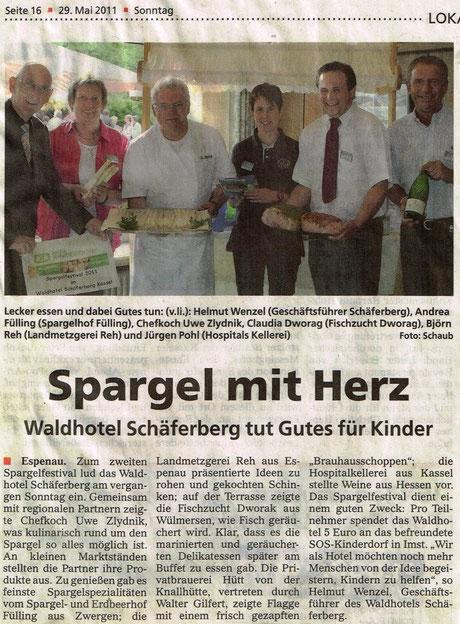 Spargelfestival Waldhotel Schäferberg (Extratipp 29.05.2011)