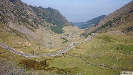 die Nordrampe des Transfagarasan - die schönste Straße der Welt