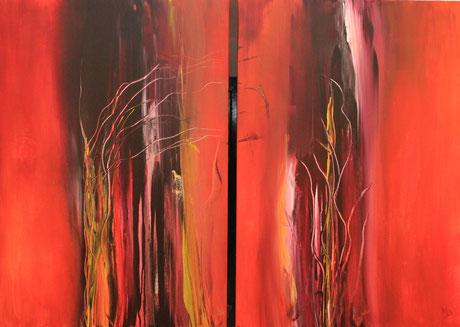 ansia Acryl auf Leinwand 2x 100x70cm