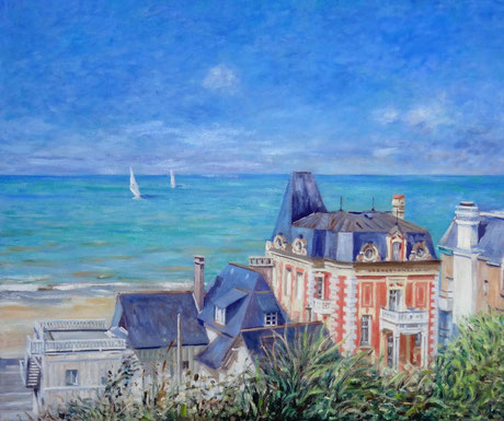 Mer et villas à Trouville - Sea and Villas at Trouville (Remi Acquin)