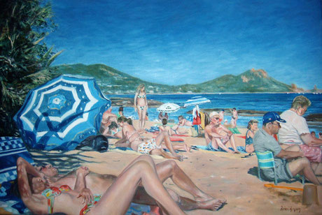Boulouris, le parasol bleu - Boulouris, the Blue Beach Umbrella (Remi Acquin)